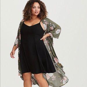 Torrid Black Challis Mini Dress SIZE:6